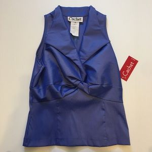 Cachet Date Night Top NWT Size 8 Royal Blue